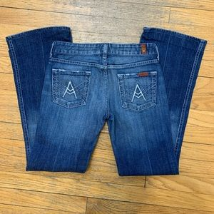 """7 For All Mankind   """"A"""" Pocket Bootcut 26x29"""